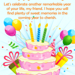 2019 Birthday Returns Wishes For Friend Like Brother In Hindi