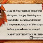 2019 Birthday Returns Wishes Images For Friend