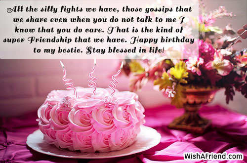 Birthday Wishes For Best Friend With Cake Images