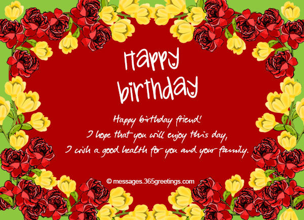 Birthday Wishes For Friend Images