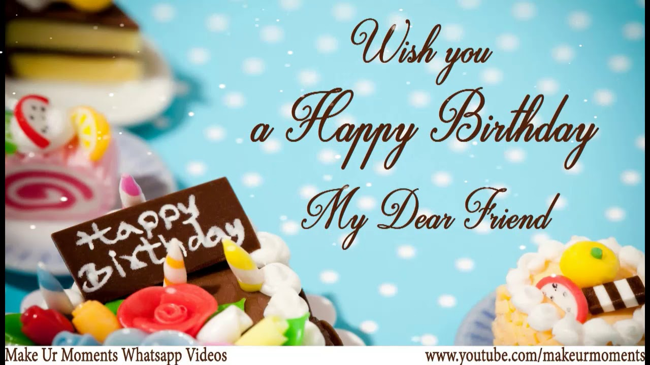 Funny Happy Birthday Wishes For Best Friend Female Video Download