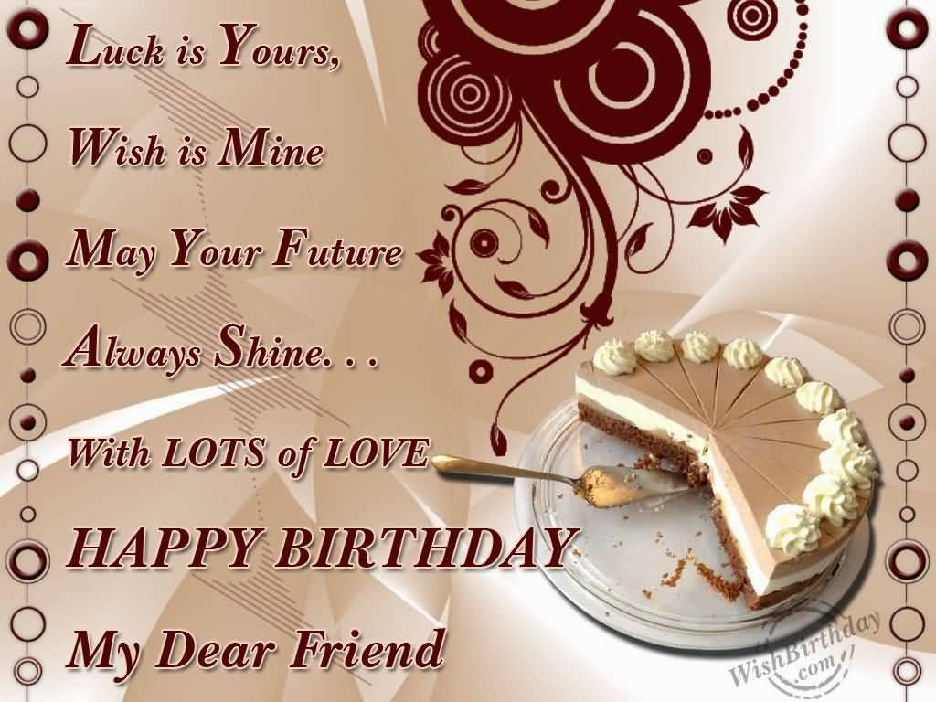 Happy Birthday Wishes For Friend In Hindi Image