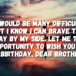 2019 Birthday Wishes For Brother In English One Line