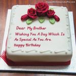 Birthday Cake For Brother With Best Wishes