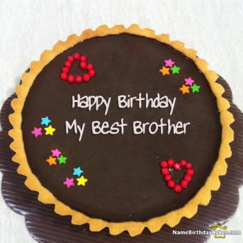 Birthday Cake Image With Best Wishes For Brother 2019