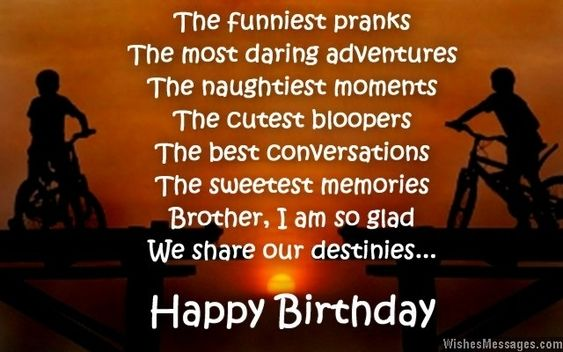 Birthday Wishes For Brother In English Text