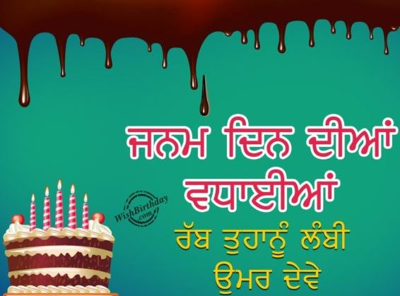 Birthday Wishes For Brother In Punjabi Font