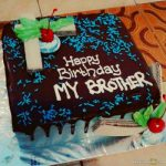 Happy Birthday Cake For Brother With Best Wishes