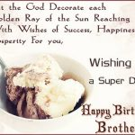 Happy Birthday Wishes For Brother In English One Line