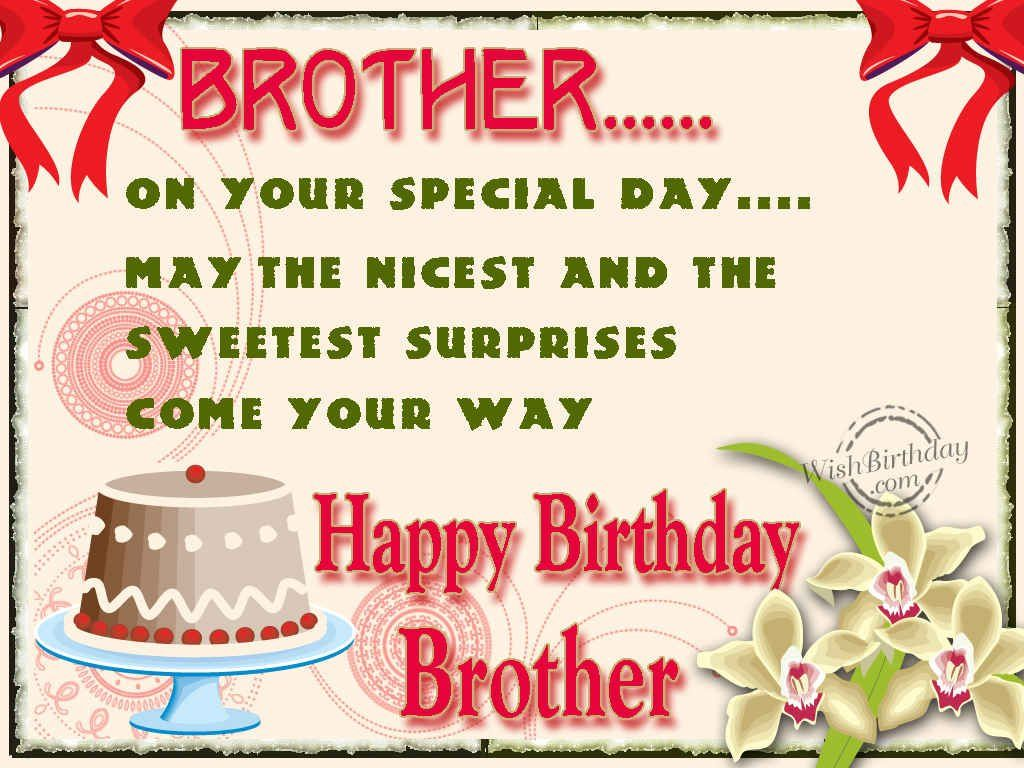 Happy Birthday Wishes For Brother In English Text