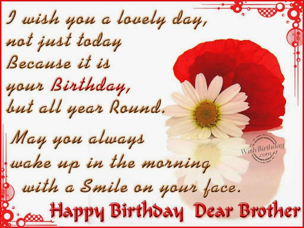 Happy Birthday Wishes For Brother Wife In English