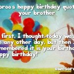 Heart Touching Birthday Wishes For Brother In English 2019