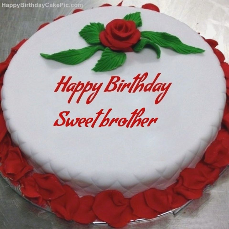 Latest 2019 Happy Birthday Wishes For Brother Cake With Name Edit