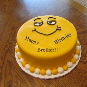 Latest Birthday Cake For Brother With Best Wishes