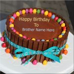 Latest Birthday Cake Image With Best Wishes For Brother