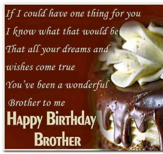 Latest Birthday Wishes For Brother In English Status