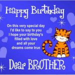 Latest Birthday Wishes For Brother In English Text
