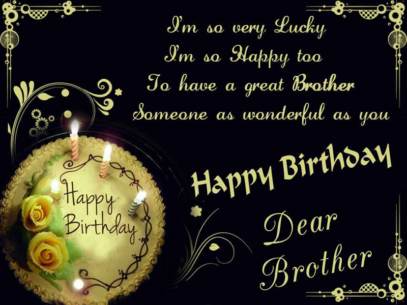Latest Birthday Wishes For Brother In Hindi English Happy Birthday