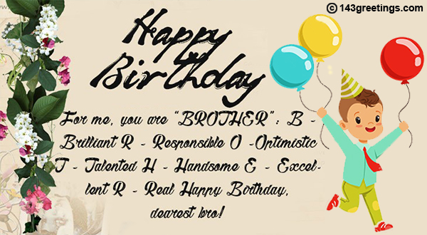 Latest Birthday Wishes For Cousin Brother In English
