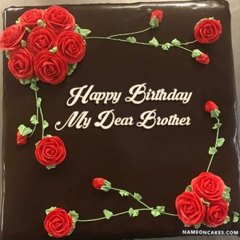 Latest Happy Birthday Wishes For Brother Cake With Name Edit
