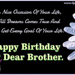 Latest Happy Birthday Wishes For Brother In English One Line