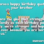 Latest Happy Birthday Wishes For Brother In English Status
