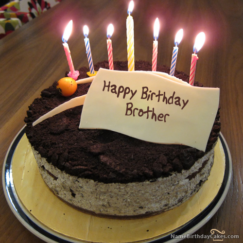 Latest Happy Birthday Wishes For Brother With Cake Name
