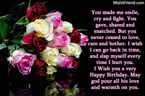 Latest Heart Touching Birthday Wishes For Brother In English