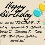 2019 Happy Birthday Wishes For Brother Images Free Download