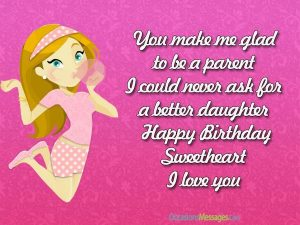 Birthday Messages For Daughter In English Latest