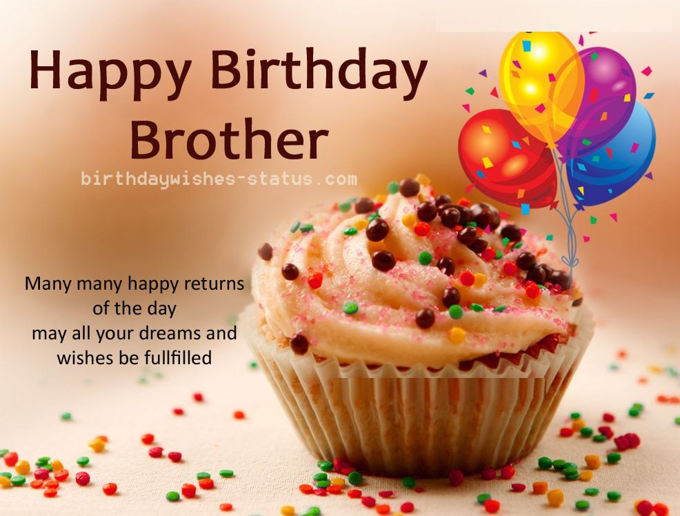 Birthday Wishes For Brother 2019