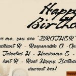 Birthday Wishes For Brother Facebook Status 2019