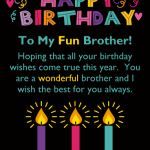 Birthday Wishes For Brother Images Download 2019