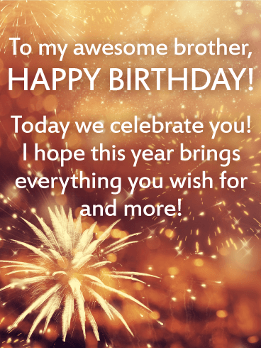 Birthday Wishes For Brother Images Download