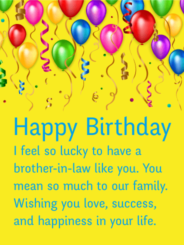 Birthday Wishes For Brother In Law 2019