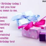 Birthday Wishes For Brother Son Latest