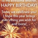 Birthday Wishes For Brother Son Real