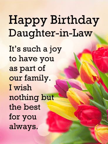 Birthday Wishes For Daughter In Law In English Latest