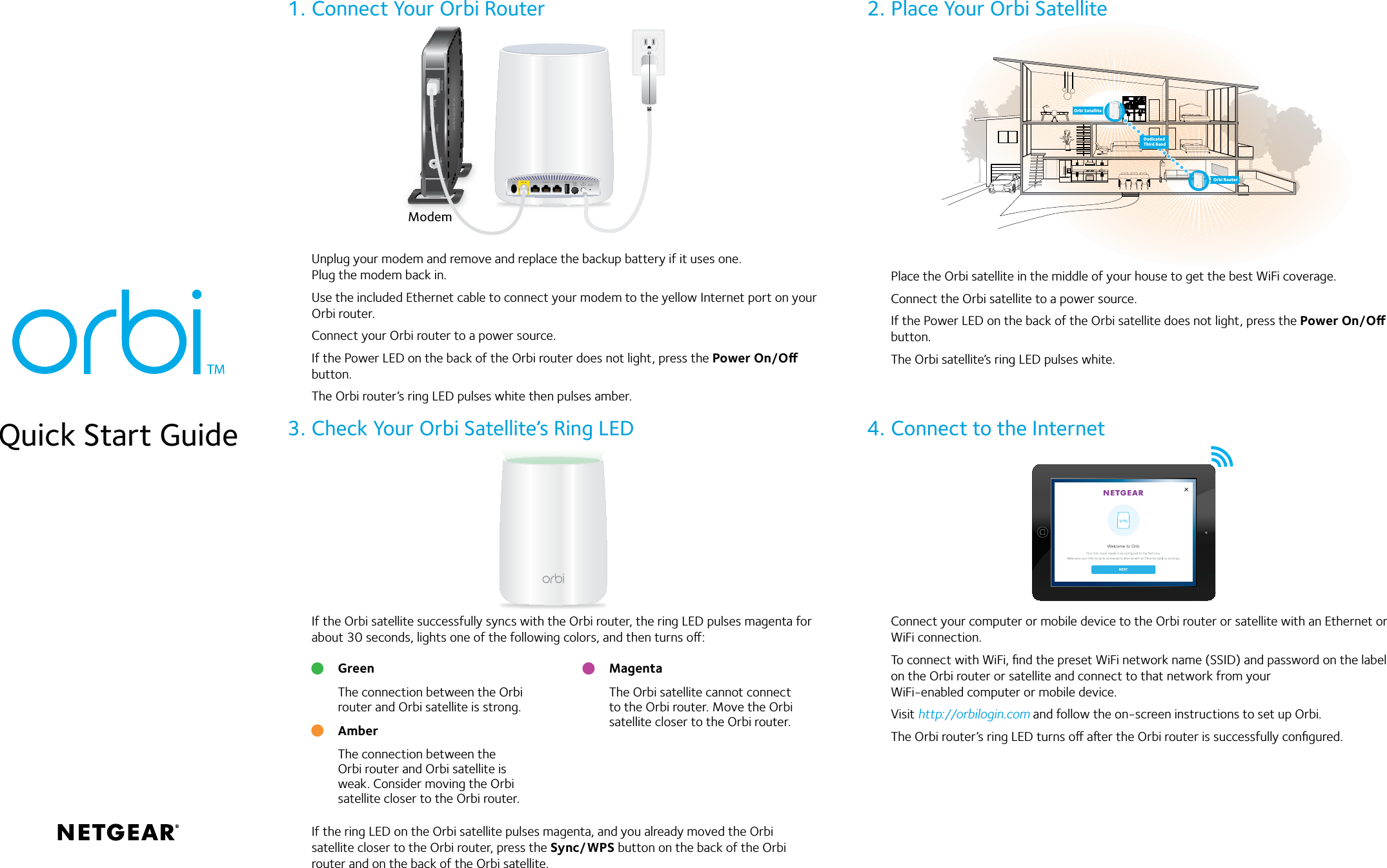 Orbi Setup Instructions