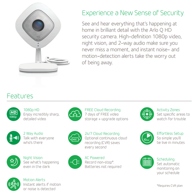 Smart Features you can access after arlo.com sign in